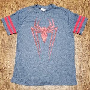 Marvel Comics Spider Man T-Shirt Blue w/Red Sleeve